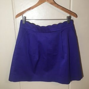 Purple Tailored J. Crew Skirt With Pockets Sz 10